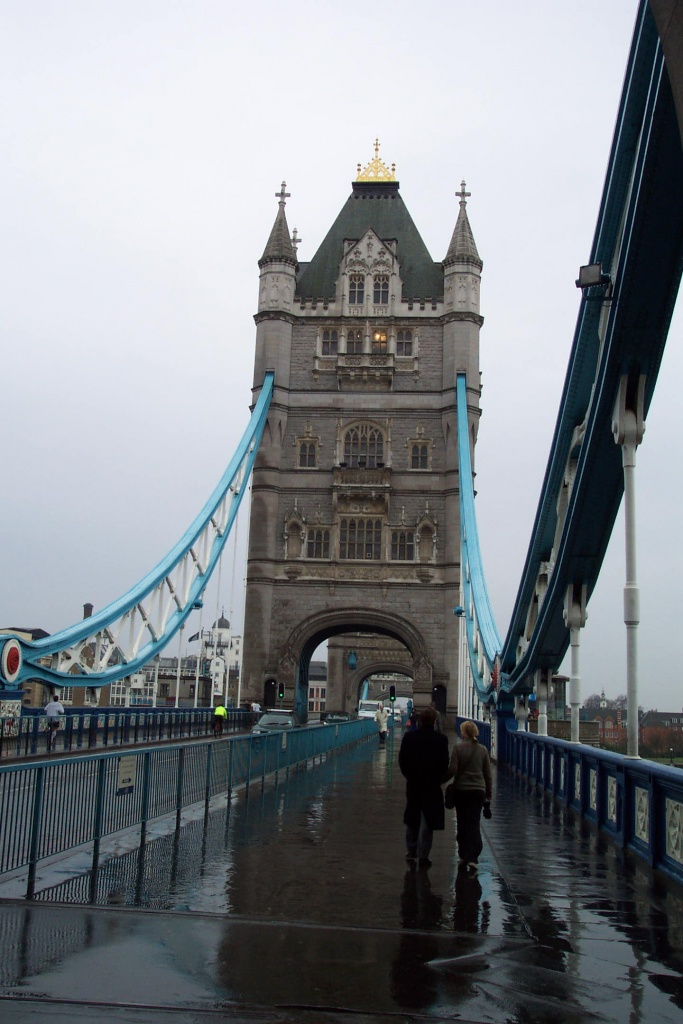 Balade pluvieuse sur Tower Bridge